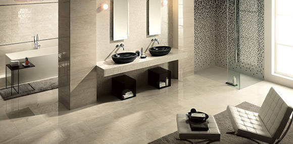 The colourful classiness of ceramic tile is available for installation from Vantage Floorcoverings in Leduc.