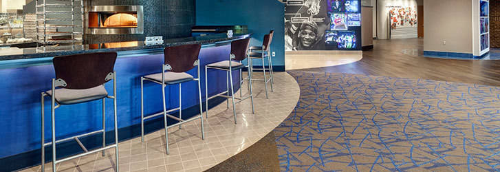 Vantage has lots of experience with commercial flooring in landmark buildings around Leduc and beyond.