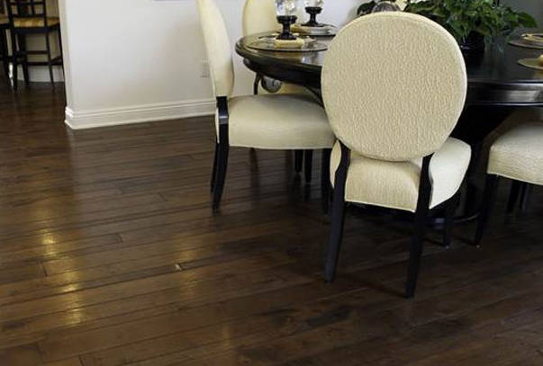 The beauty and toughness of a hardwood floor can be professionally installed by Vantage Floorcovering in Leduc, Alberta