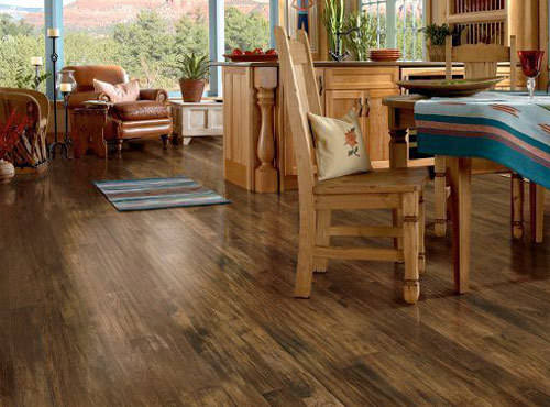 The strength and beauty of laminate flooring is at Vantage Floors in Leduc.